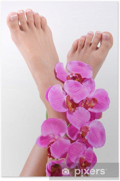 Poster Gepflegte Füße - Schoonheid en Lichaamsverzorging