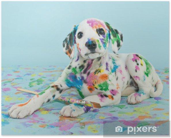 Poster Geschilderd Puppy - iStaging