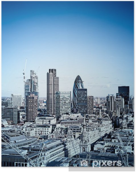 Poster Getinte foto van de City of London. - Europese steden