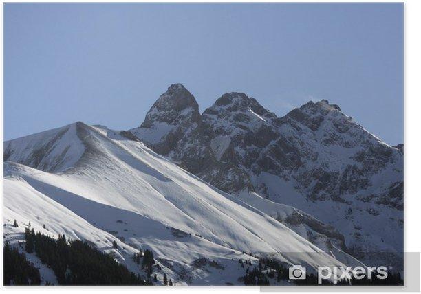 Poster Gipfel in den Alpen Allgäuer - Mädlegabel - Europe