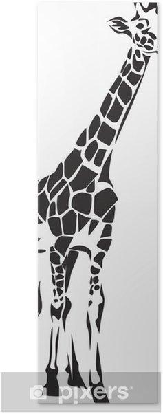 Poster Girafe stylisée - Mammifères