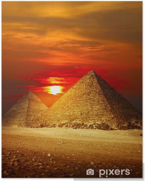 Poster Giza Vallée - Désert