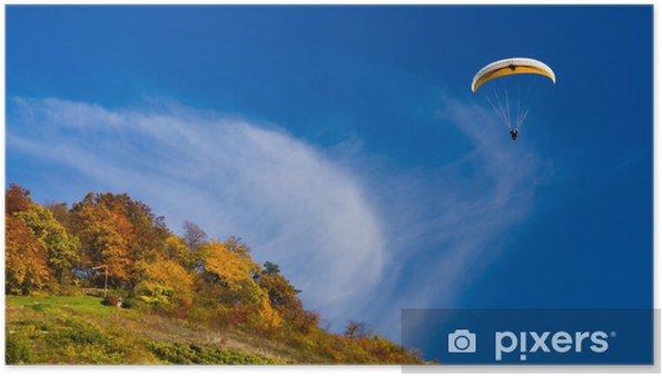 Poster Gleitschirmflieger im Herbst - Sports extrêmes