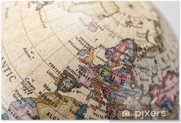 Poster Globe l'Europe -