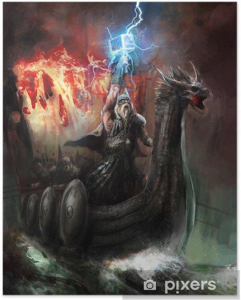 Poster God van de bliksem - Succes en Prestatie