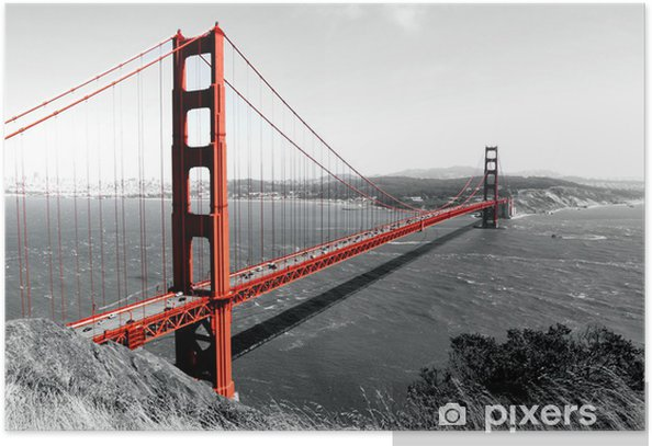 Golden Gate Bridge Poster - iStaging