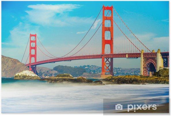 Poster Golden Gate, San Francisco, Californie, USA. - Thèmes