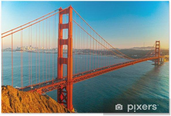 Poster Golden Gate, San Francisco, Kalifornien, USA. - Nordamerika
