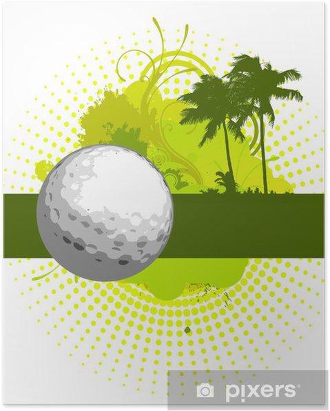 Poster Golf bannière - Golf