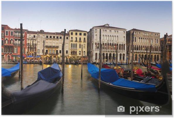 Poster Gondoles à Venise, en Italie. - Vacances