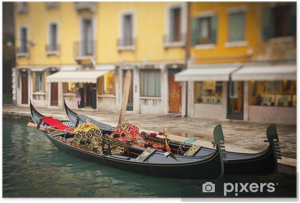 Poster Gondoles traditionnelles à Venise - Villes européennes