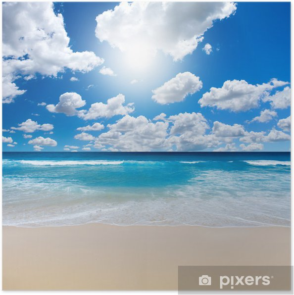Poster Gorgeous Beach Landschap - Zee en oceaan