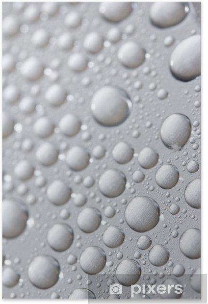 Poster Gouttes eau - Arrière plans