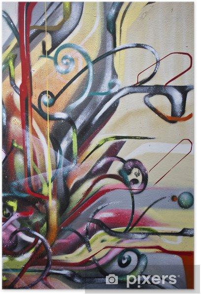 Graffiti abstrait Poster - Themes