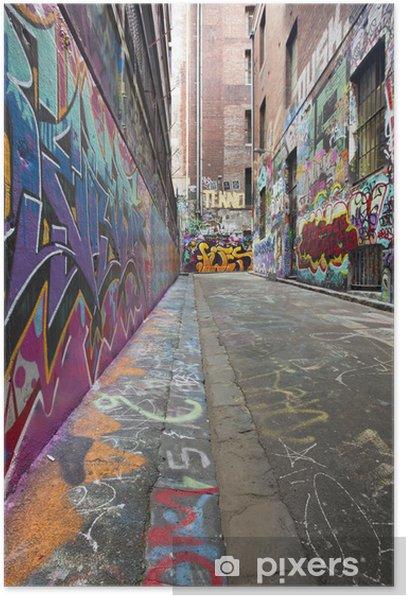Poster Graffiti Alley - Thèmes