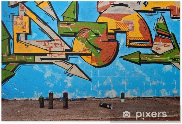 Poster Graffiti et aérosols - Art et création