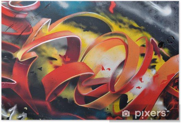 Poster Graffiti panoramique - Thèmes