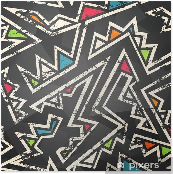Póster Graffiti - seamless pattern - Recursos gráficos