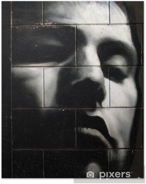 Poster Graffiti tête noire - Thèmes