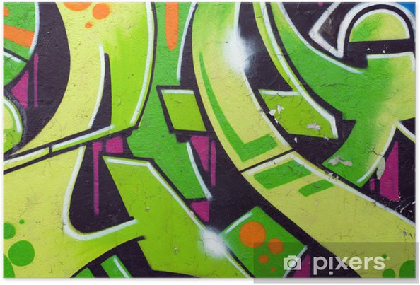 Poster Graffiti vert - Thèmes