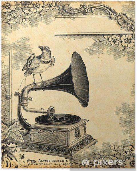 Poster Grammofoon 1900 - Stijlen