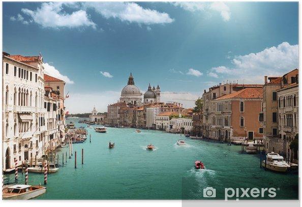 Grand Canal and Basilica Santa Maria della Salute, Venice, Italy Poster - Themes