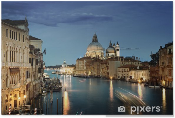 Poster Grand Canal et Santa Maria della Salute Basilique, Venise, Italie - Thèmes