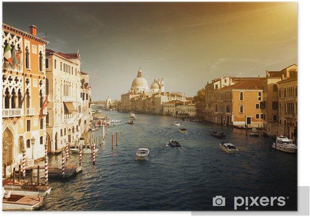 Poster Grand Canal et Santa Maria della Salute Basilique, Venise, Italie - Villes européennes