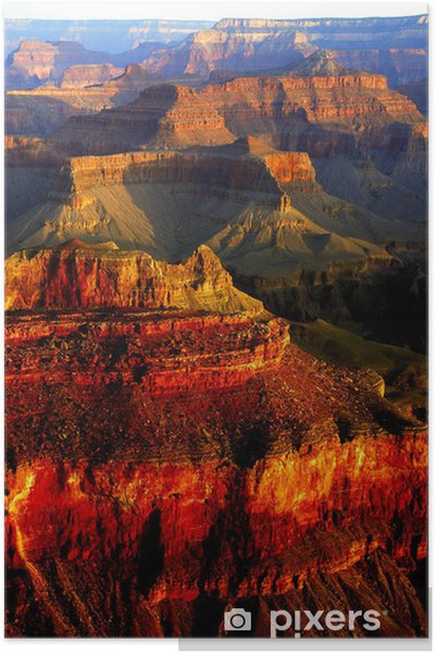 Poster Grand Canyon kleuren - Bergen