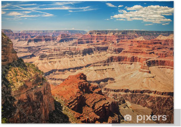 Grand Canyon sunny day with blue sky Poster - Themes