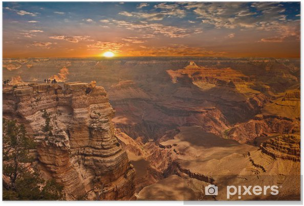 Poster Grand Canyon Sunset - Amerika