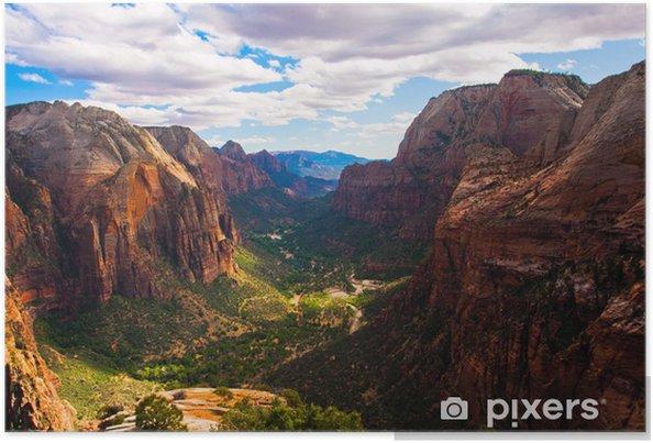 Poster Grand Paysage dans le parc national de Zion, Utah, USA - Thèmes