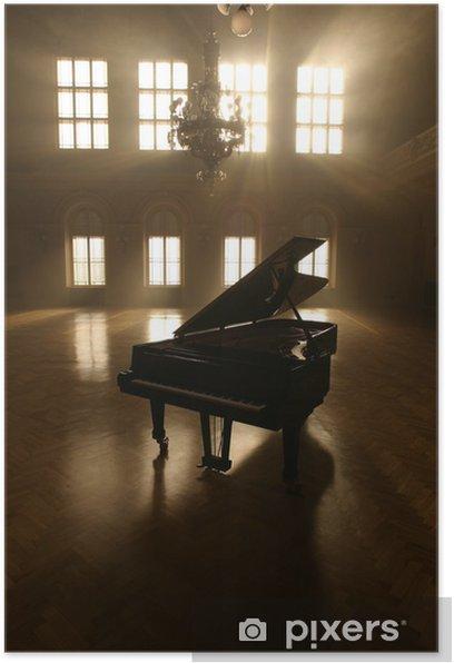 Grand Piano in Light Poster - Piano