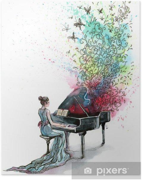 grand piano music (series C) Poster - Jazz