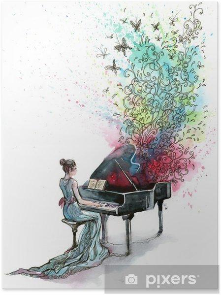 Poster Grand pianomuziek (reeks C) - jazz