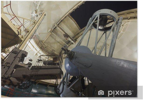 Poster Grand télescope optique - Espace