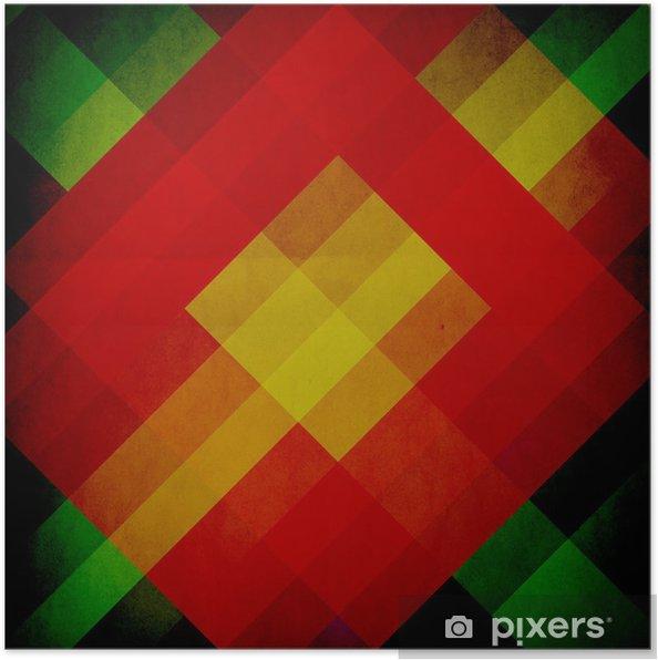 Poster Graphic Design (Pantone) ou (Vintage Background d'affiche) - Art et création