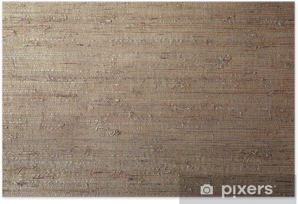 Grass Cloth Wallpaper Sisal Texture Background Poster