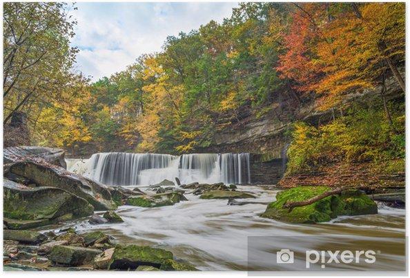 Poster Great Falls avec la Grande-couleur - Thèmes