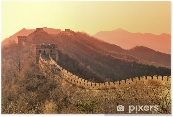 Poster Great Wall matin - Monuments