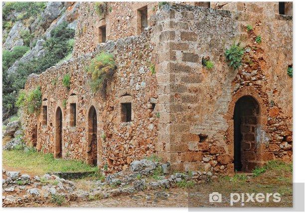Poster Grèce, Crète - Kathalikos monastère - Bâtiments publics
