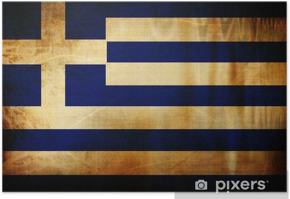 Greek flag Poster -