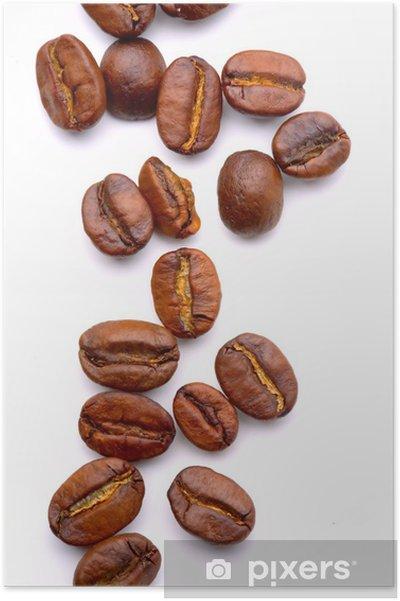 Poster Gros plan sur les coffe beans aromatiques - Thèmes