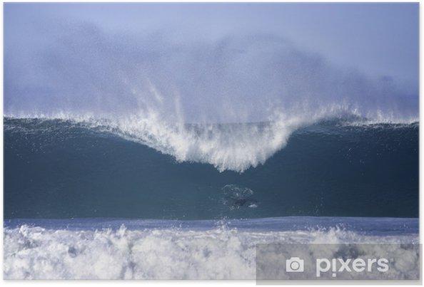 Poster Grosses vagues à la plage de Bondi - Eau