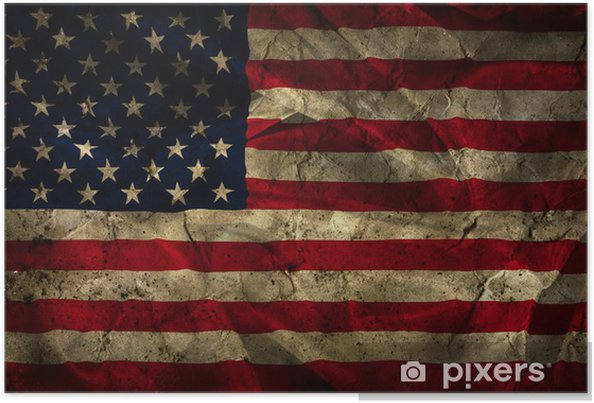 Poster Grunge amerikanska flaggan bakgrund - iStaging