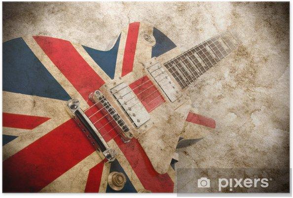 Poster Grunge britannique guitare pop - Rock