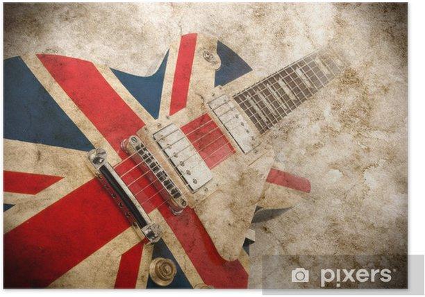grunge british pop guitar Poster - Rock
