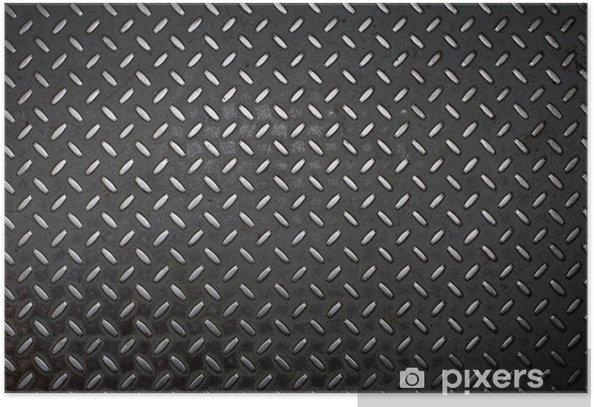 grunge diamond metal background Poster - Textures