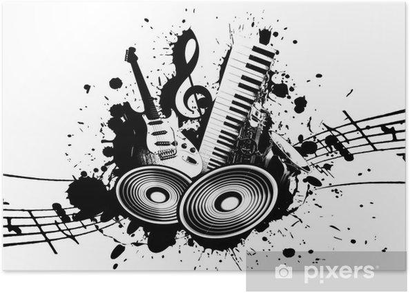 Grunge Music Poster - Jazz