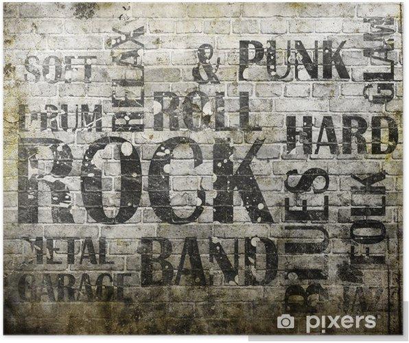 Poster Grunge rock muziek poster - Rock